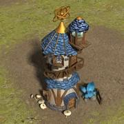 마법사 타워 3d model