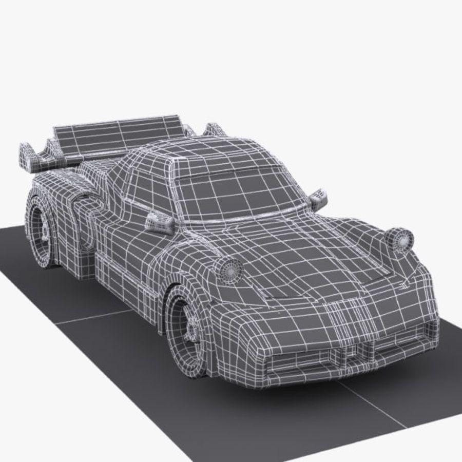 Cartoon Sports Car 1 royalty-free 3d model - Preview no. 9