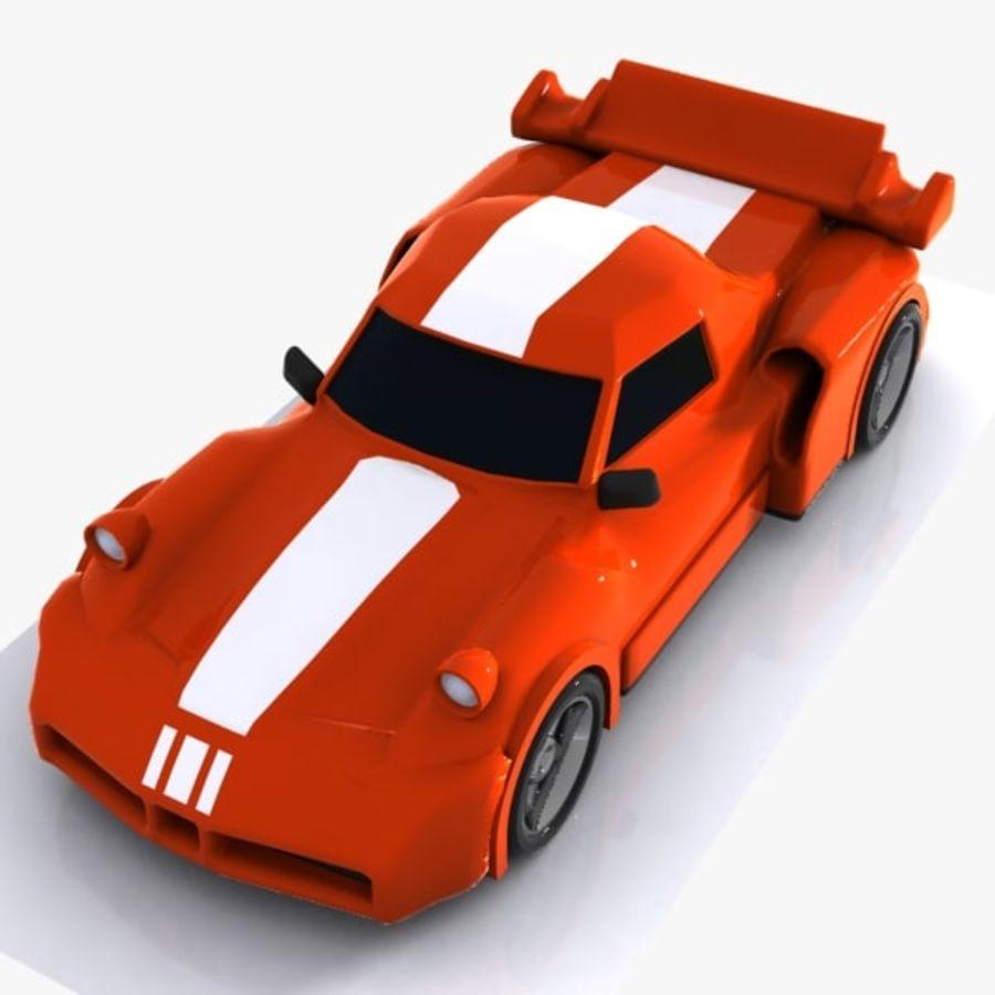 Cartoon Sports Car 1 royalty-free 3d model - Preview no. 3