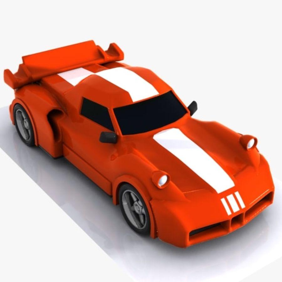 Cartoon Sports Car 1 royalty-free 3d model - Preview no. 5