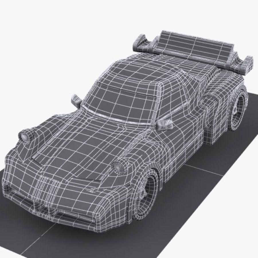 Cartoon Sports Car 1 royalty-free 3d model - Preview no. 8