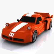 Cartoon Sports Car 1 3d model