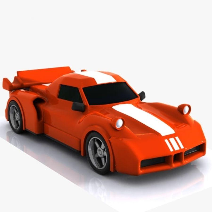 Cartoon Sports Car 1 royalty-free 3d model - Preview no. 4