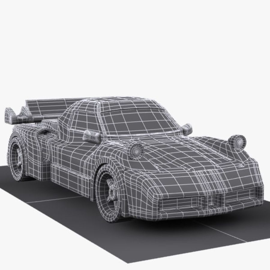 Cartoon Sports Car 1 royalty-free 3d model - Preview no. 10