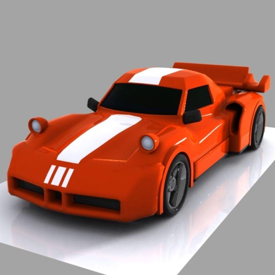 Cartoon Sports Car 1 royalty-free 3d model - Preview no. 2
