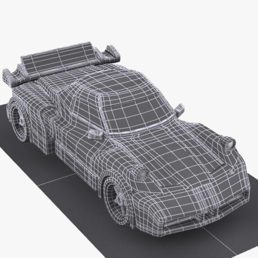 Cartoon Sports Car 1 royalty-free 3d model - Preview no. 11