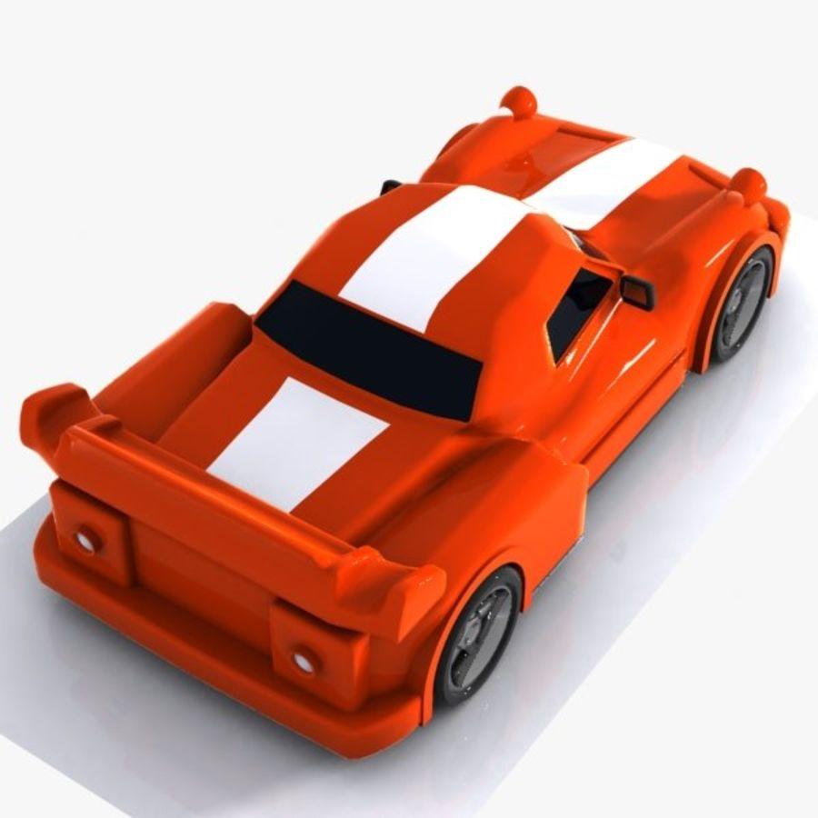 Cartoon Sports Car 1 royalty-free 3d model - Preview no. 7