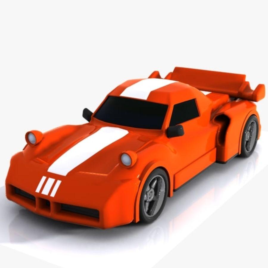 Cartoon Sports Car 1 royalty-free 3d model - Preview no. 6