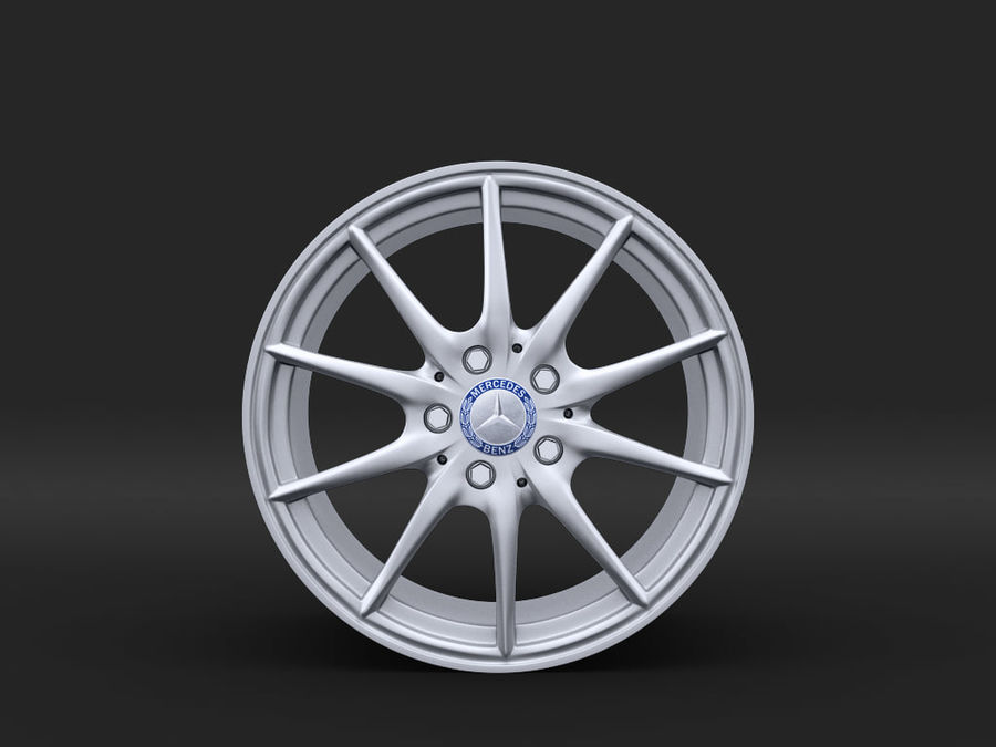 Mercedes Rim R25 17 inches royalty-free 3d model - Preview no. 2