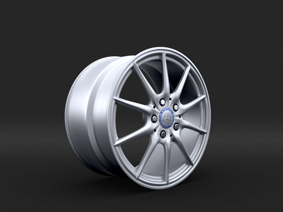 Mercedes Rim R25 17 inches royalty-free 3d model - Preview no. 1