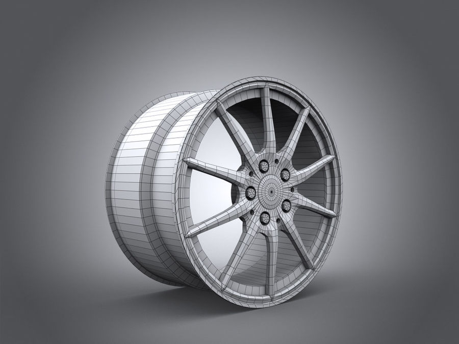 Mercedes Rim R25 17 inches royalty-free 3d model - Preview no. 5