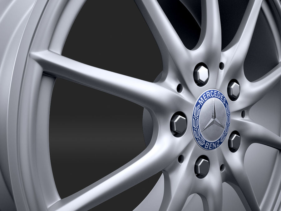 Mercedes Rim R25 17 inches royalty-free 3d model - Preview no. 4