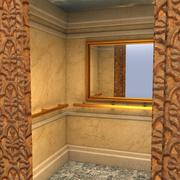 Interior del elevador modelo 3d