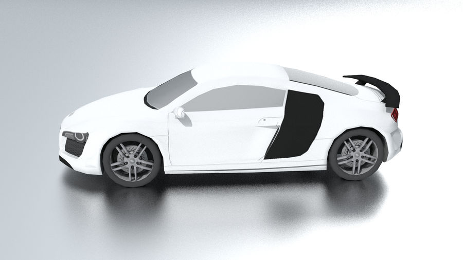 Audi R8 low poly royalty-free 3d model - Preview no. 3