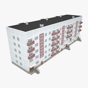 苏联小组公寓 3d model