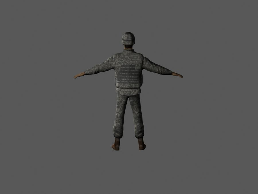 Us soldier V2 royalty-free 3d model - Preview no. 7