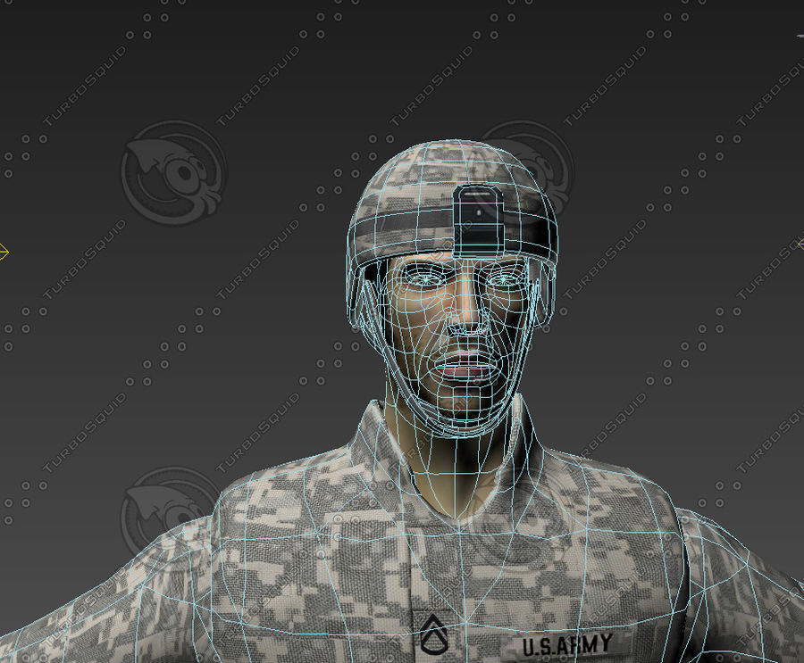 Us soldier V2 royalty-free 3d model - Preview no. 10