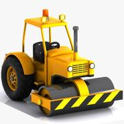 Cartoon Road Roller 2 3d model