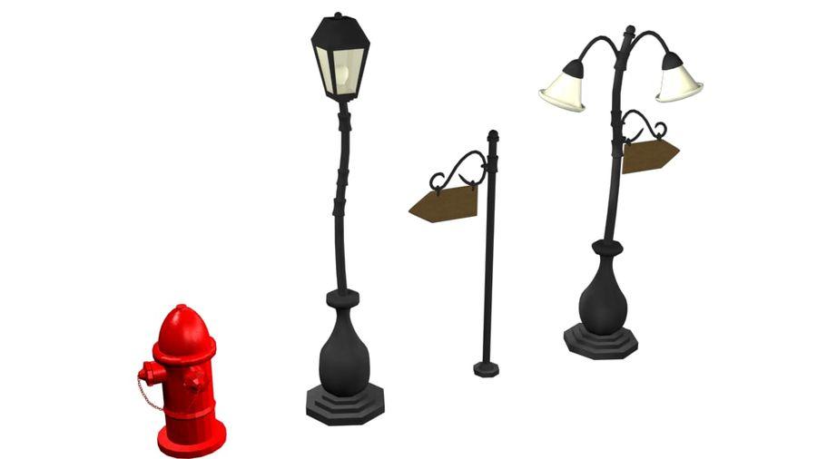 Lampy uliczne z kreskówek royalty-free 3d model - Preview no. 3