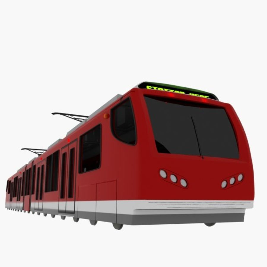 tram train metro royalty-free 3d model - Preview no. 3
