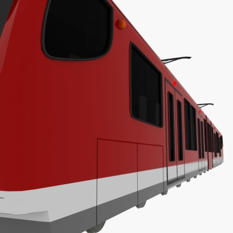 tram train metro royalty-free 3d model - Preview no. 6