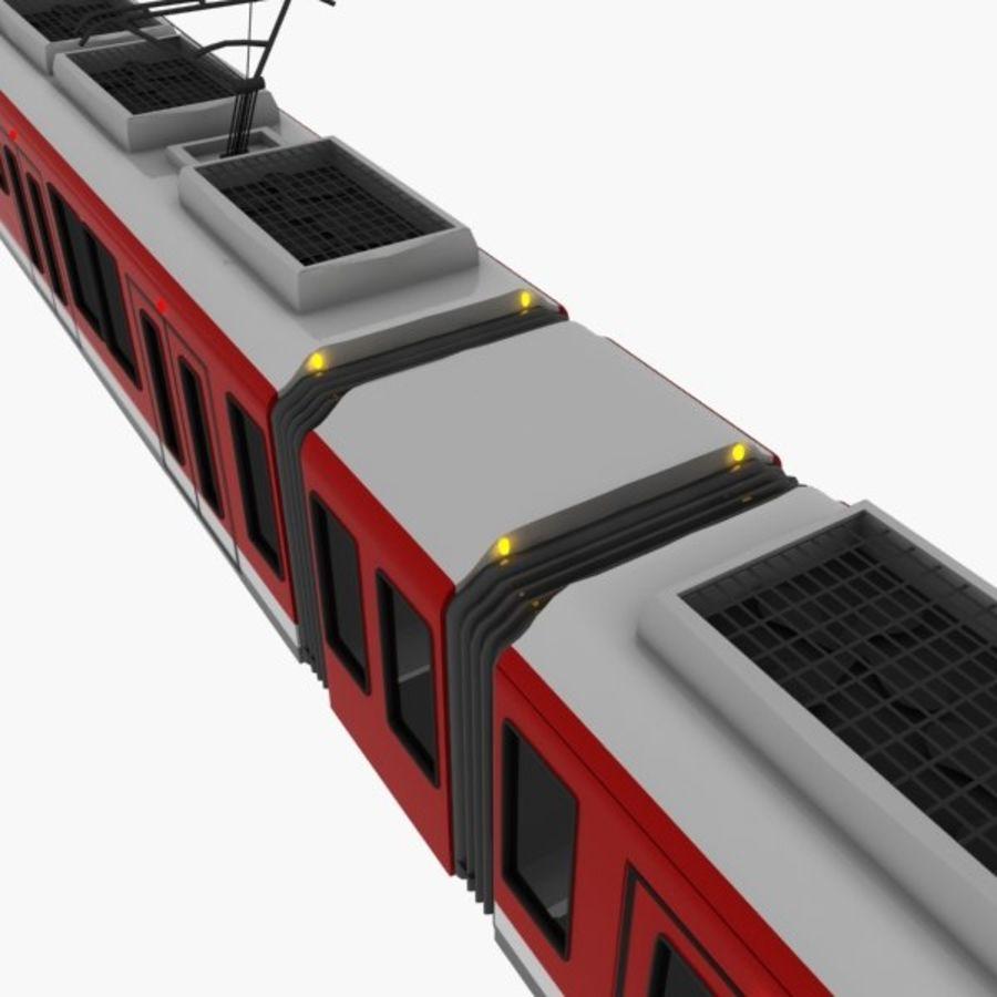 tram train metro royalty-free 3d model - Preview no. 4