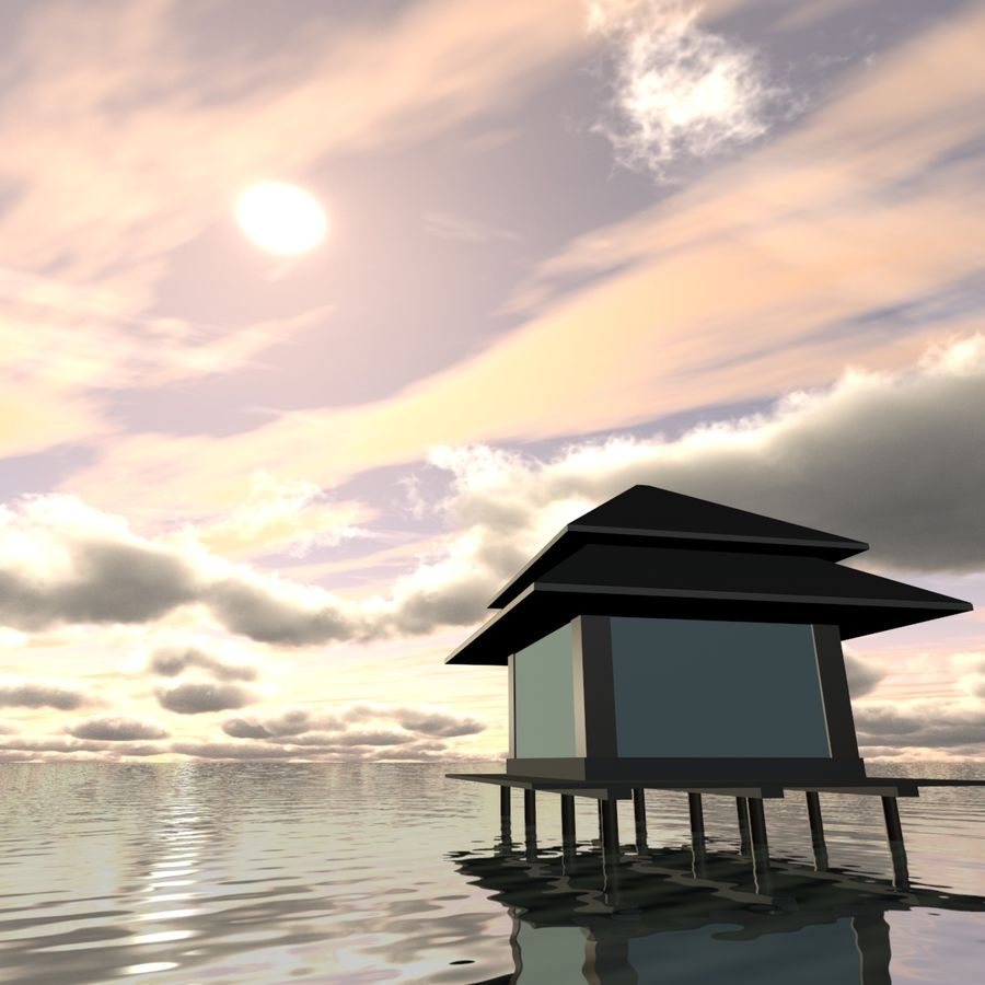 Sky 3D Clouded 005 royalty-free 3d model - Preview no. 6