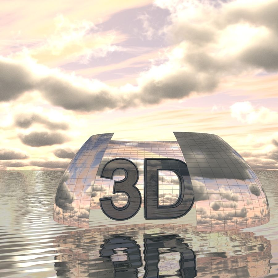 Sky 3D Clouded 005 royalty-free 3d model - Preview no. 4