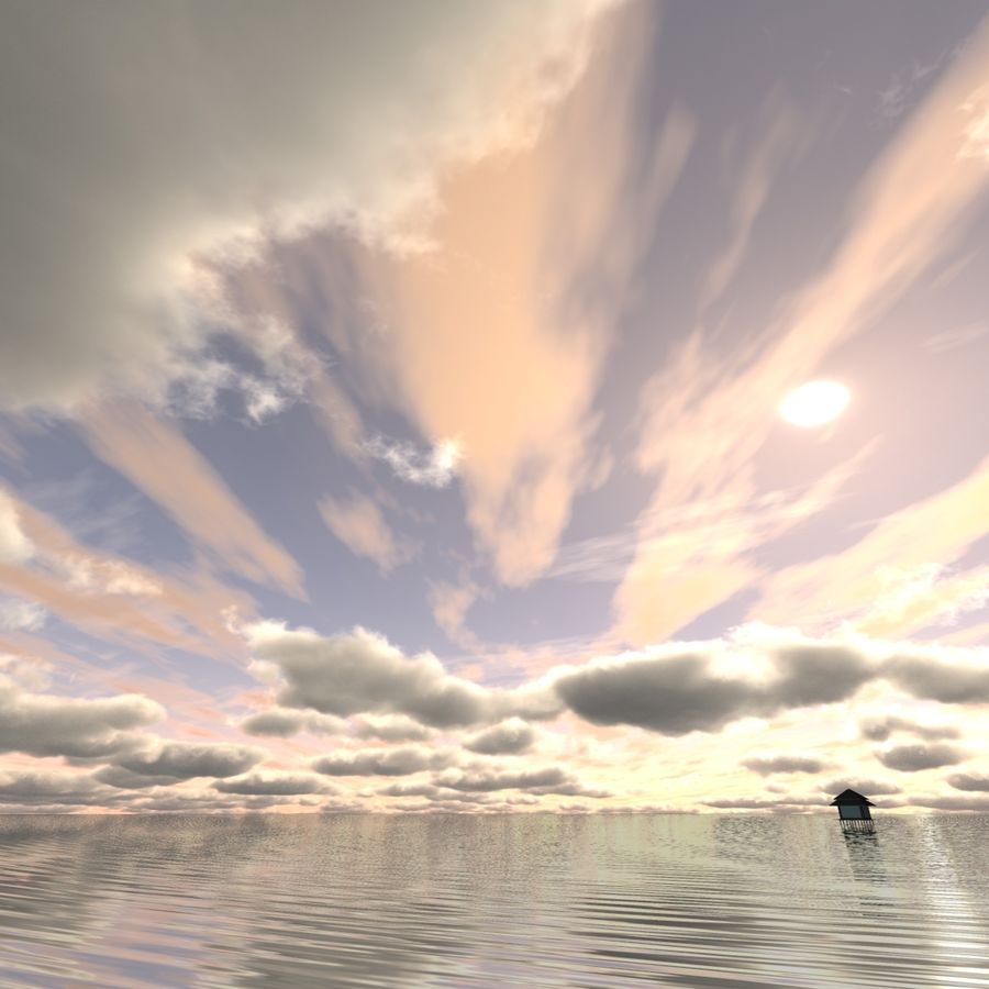 Sky 3D Clouded 005 royalty-free 3d model - Preview no. 3