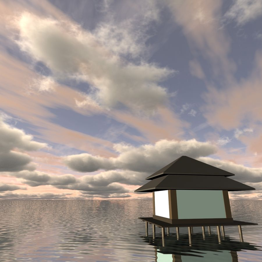 Sky 3D Clouded 005 royalty-free 3d model - Preview no. 2