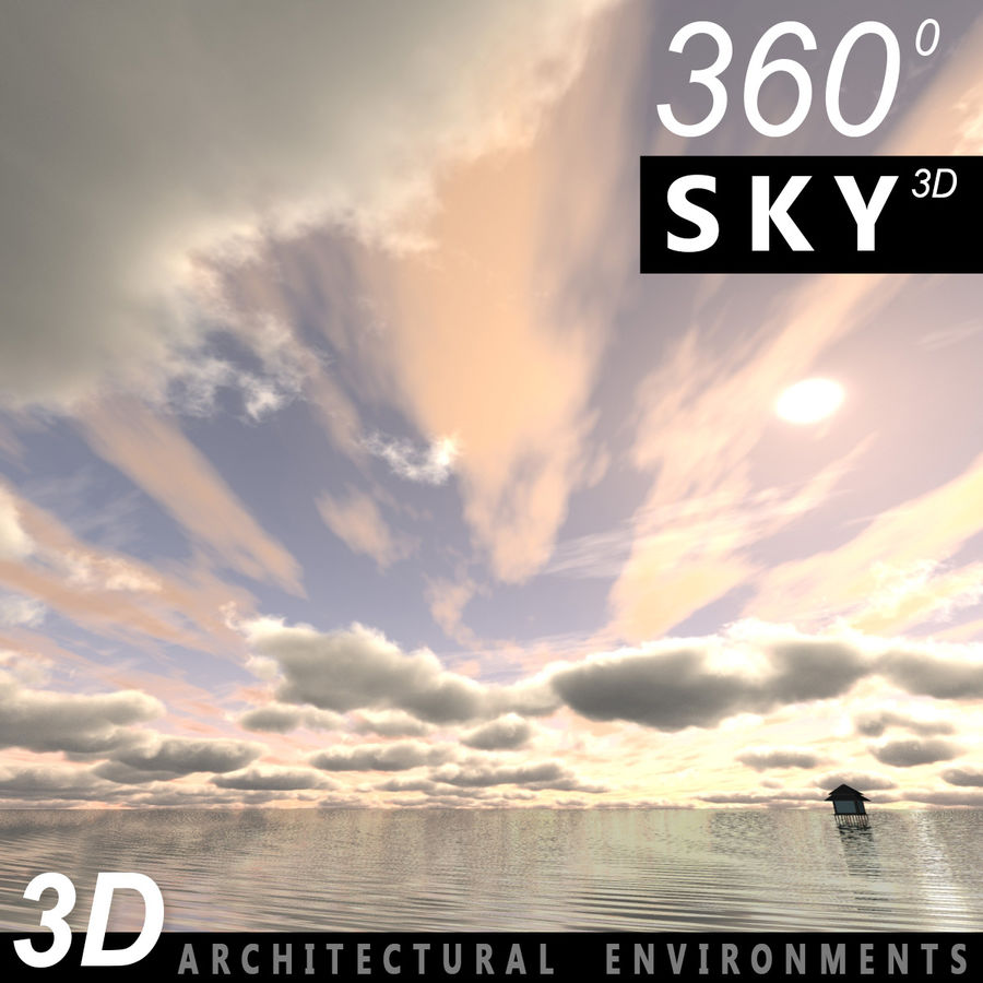Sky 3D Clouded 005 royalty-free 3d model - Preview no. 1