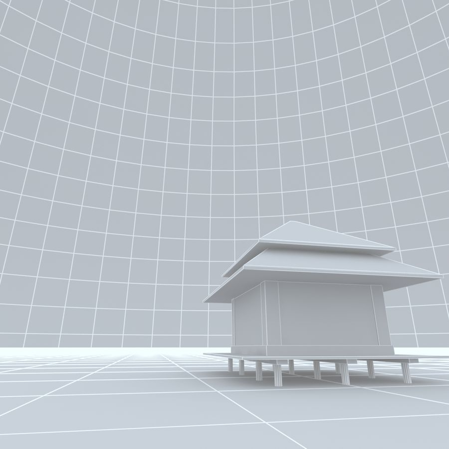 Sky 3D Clouded 005 royalty-free 3d model - Preview no. 11