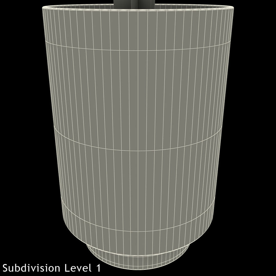 Mainstays Glass Candle Holder royalty-free 3d model - Preview no. 18