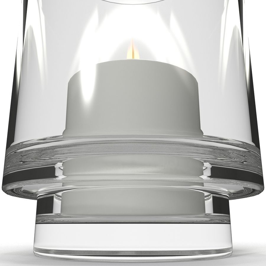 Mainstays Glass Candle Holder royalty-free 3d model - Preview no. 8