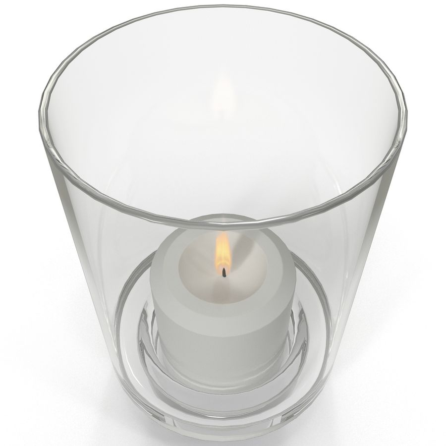 Mainstays Glass Candle Holder royalty-free 3d model - Preview no. 3