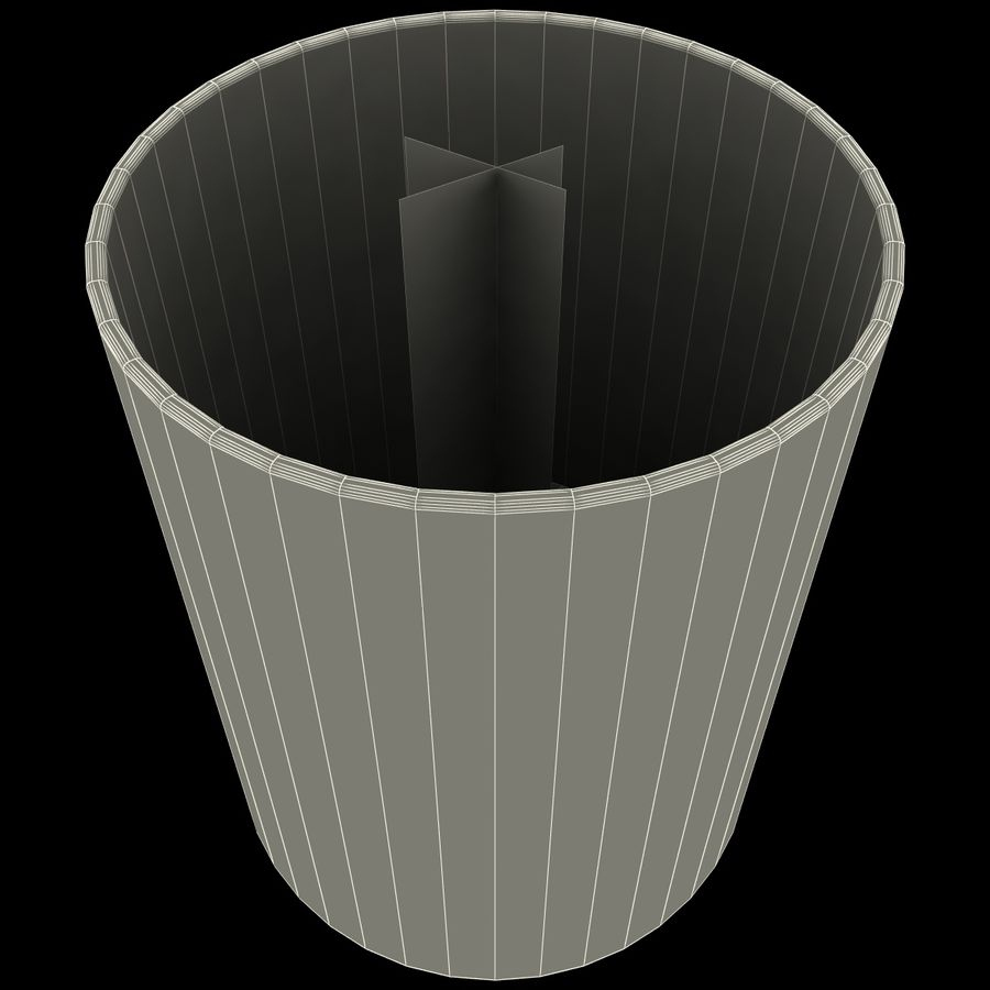 Mainstays Glass Candle Holder royalty-free 3d model - Preview no. 11