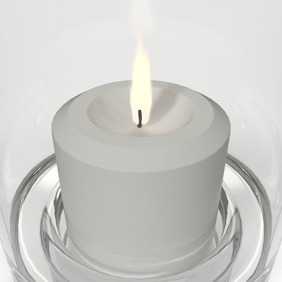 Mainstays Glass Candle Holder royalty-free 3d model - Preview no. 7