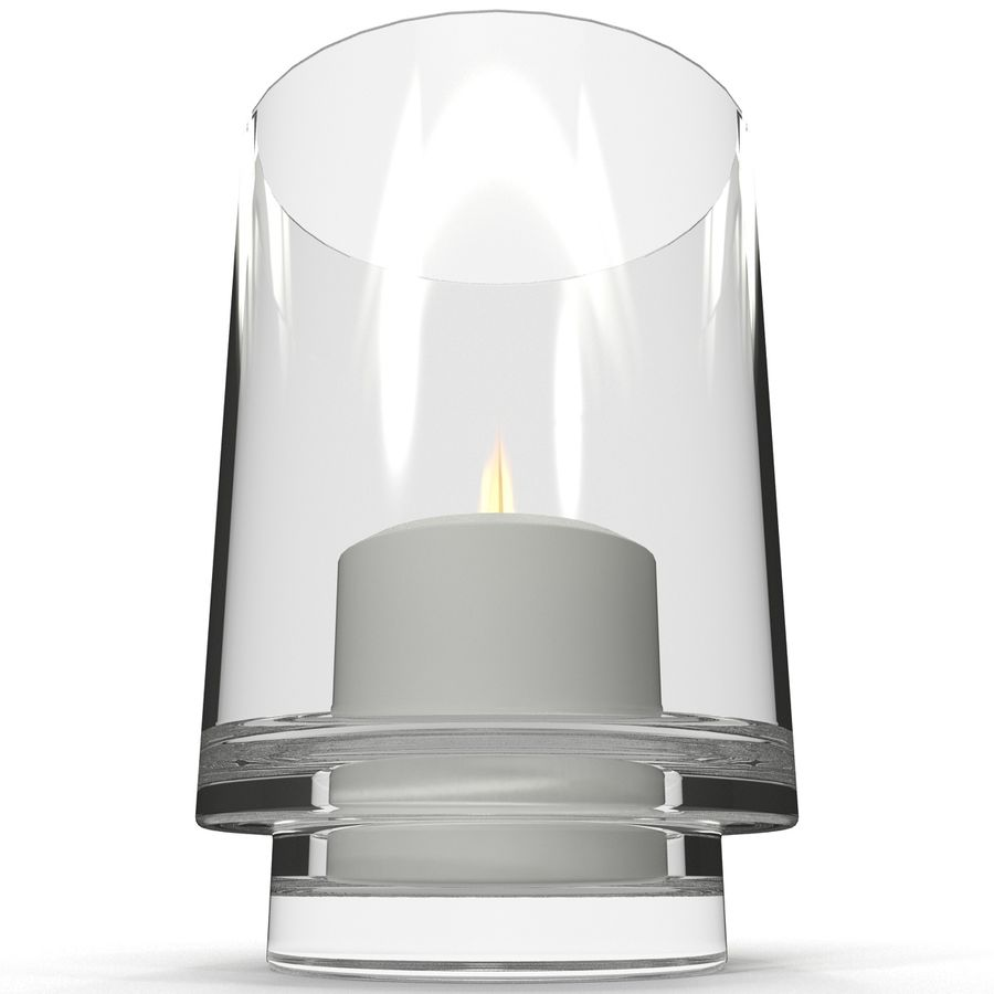 Mainstays Glass Candle Holder royalty-free 3d model - Preview no. 4