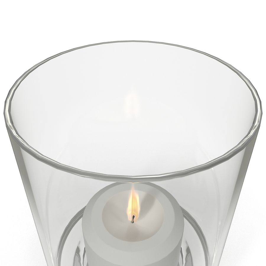 Mainstays Glass Candle Holder royalty-free 3d model - Preview no. 6