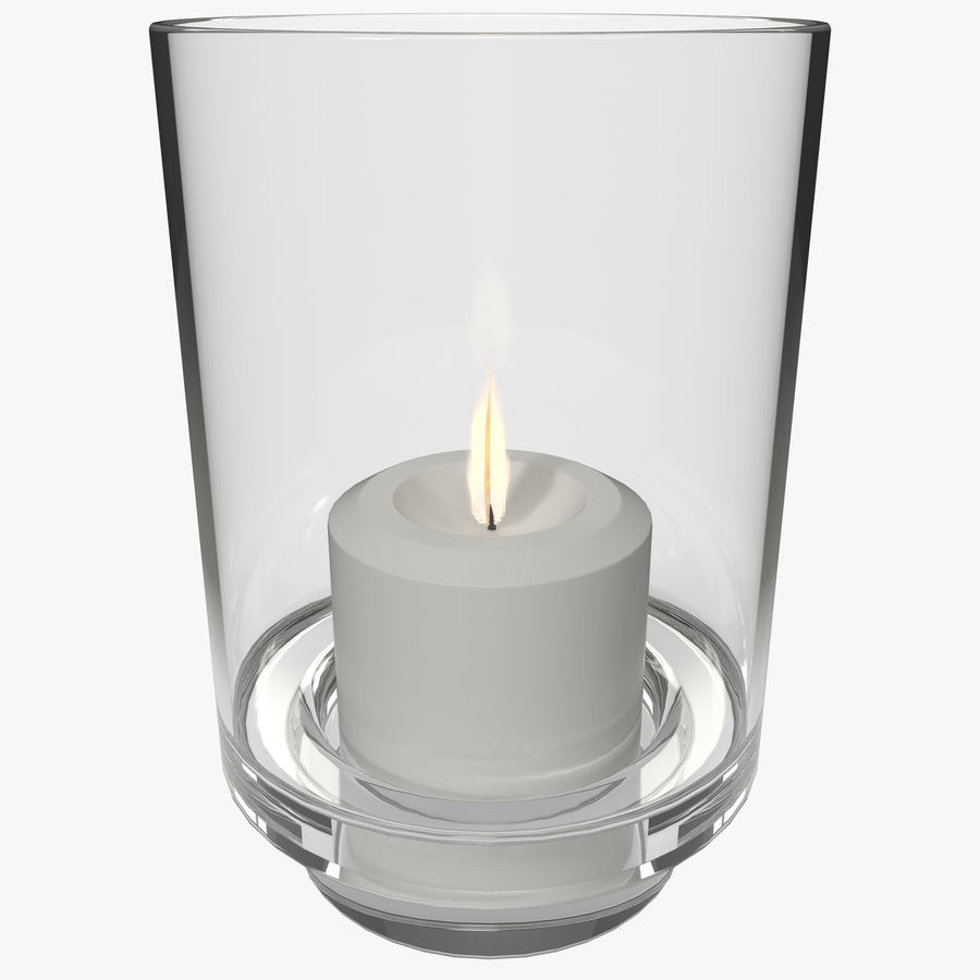 Mainstays Glass Candle Holder royalty-free 3d model - Preview no. 1