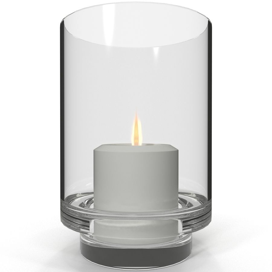Mainstays Glass Candle Holder royalty-free 3d model - Preview no. 5