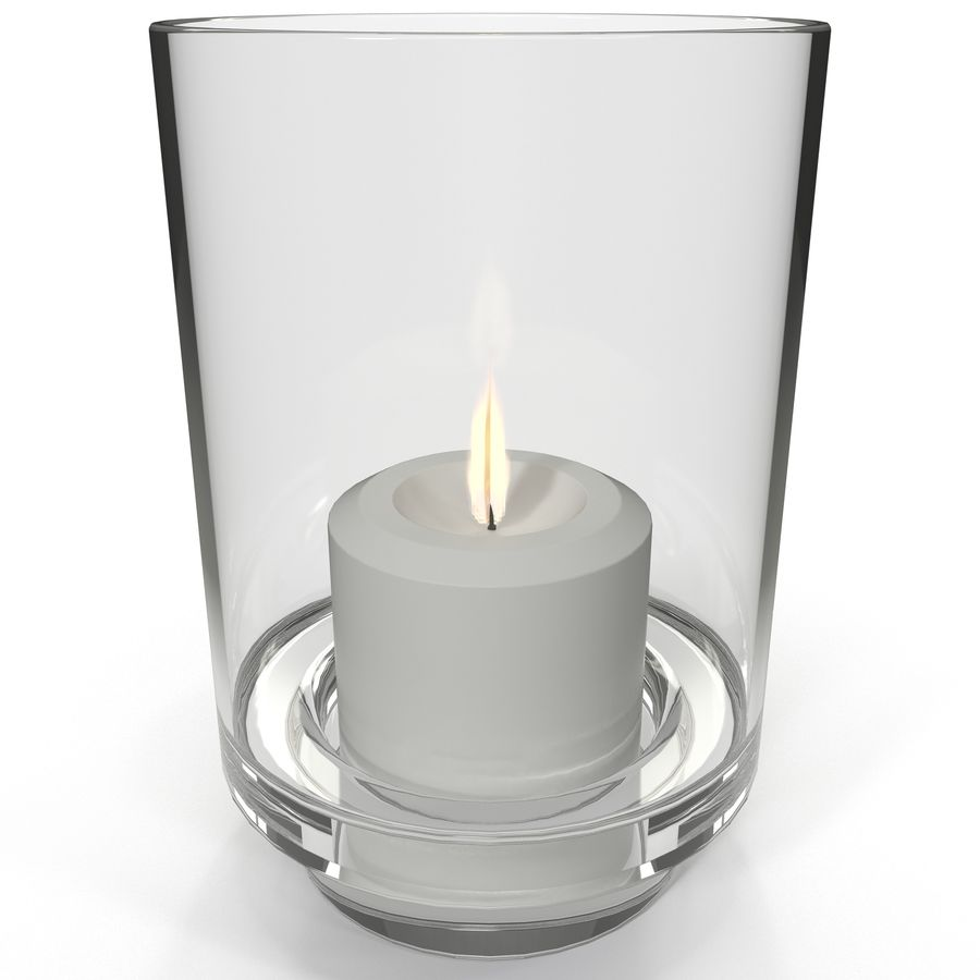 Mainstays Glass Candle Holder royalty-free 3d model - Preview no. 2
