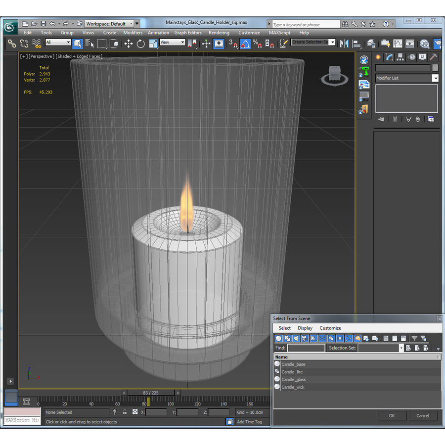 Mainstays Glass Candle Holder royalty-free 3d model - Preview no. 20