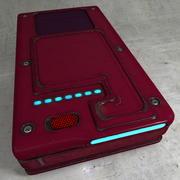 Disco duro viejo gastado como dispositivo electrónico modelo 3d
