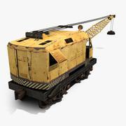 Железнодорожный кран 3d model