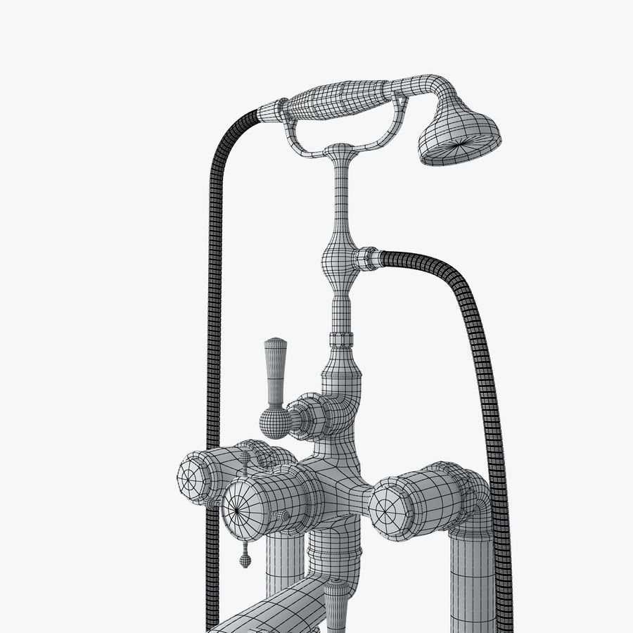 Staffordshire Bath Mixer royalty-free 3d model - Preview no. 8