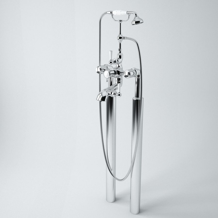 Staffordshire Bath Mixer royalty-free 3d model - Preview no. 2
