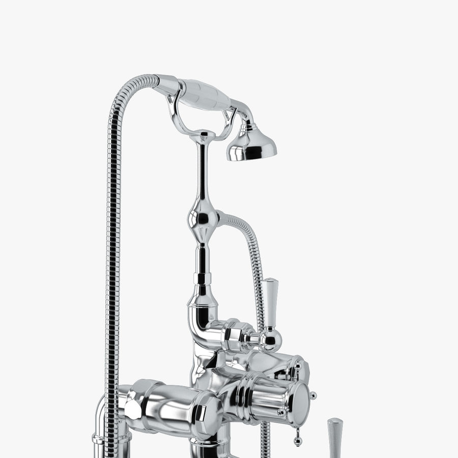 Staffordshire Bath Mixer royalty-free 3d model - Preview no. 5