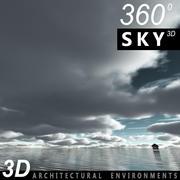 Sky 3D Clouded 009 3d model