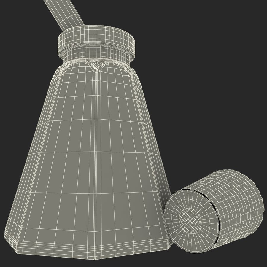 Quill And Ink royalty-free 3d model - Preview no. 27